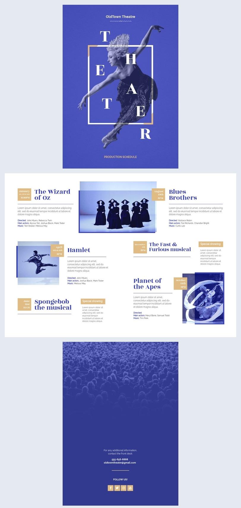 Design-Vorlage für den Theaterproduktionsplan