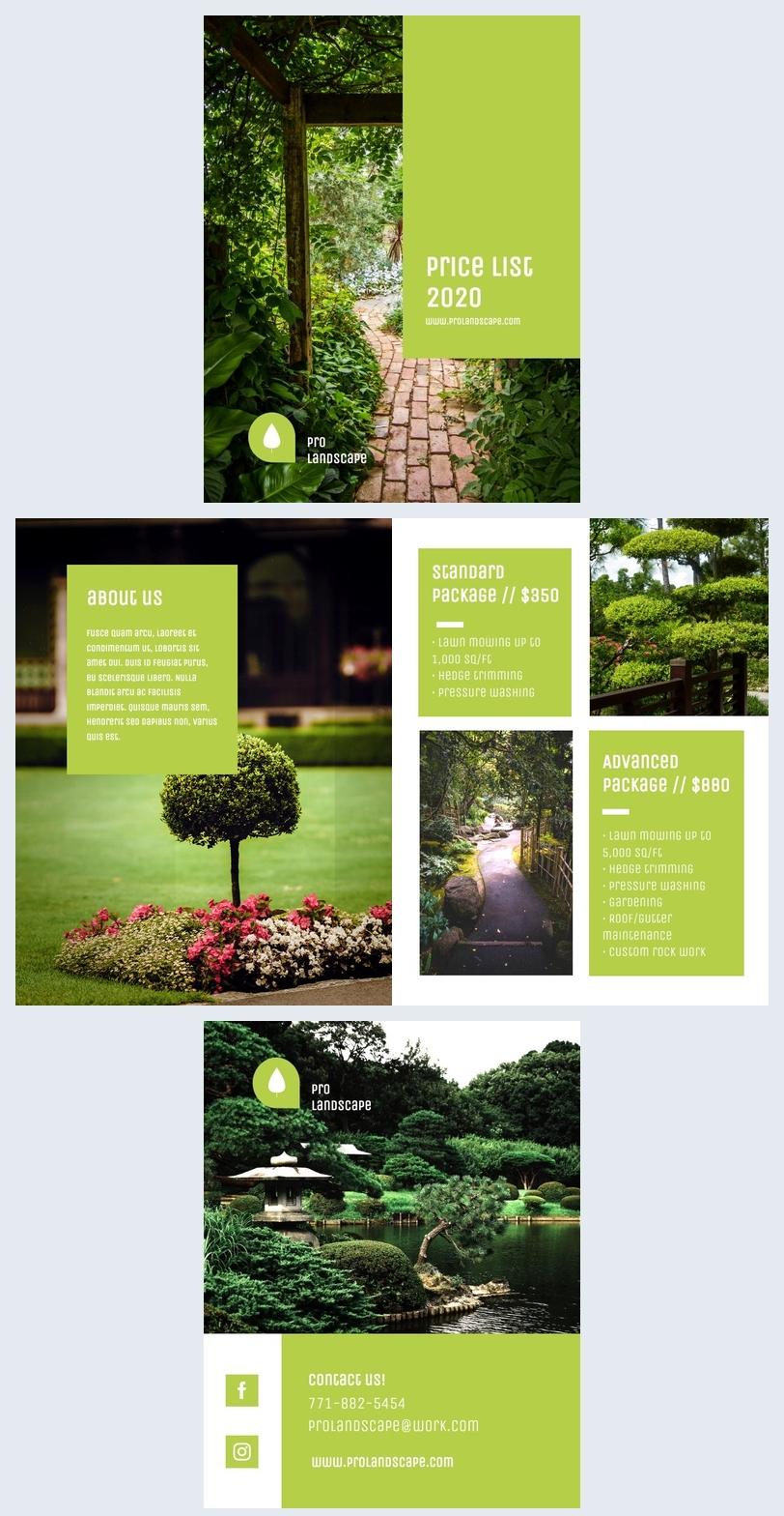 Professional Business Price List Template Design