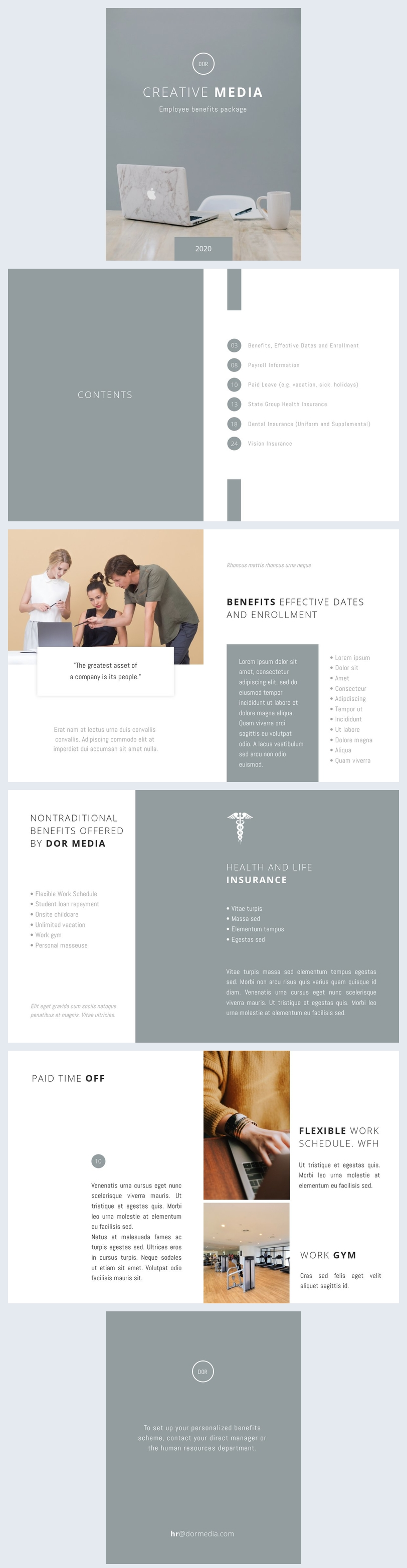 Employee Benefits Package Template Design