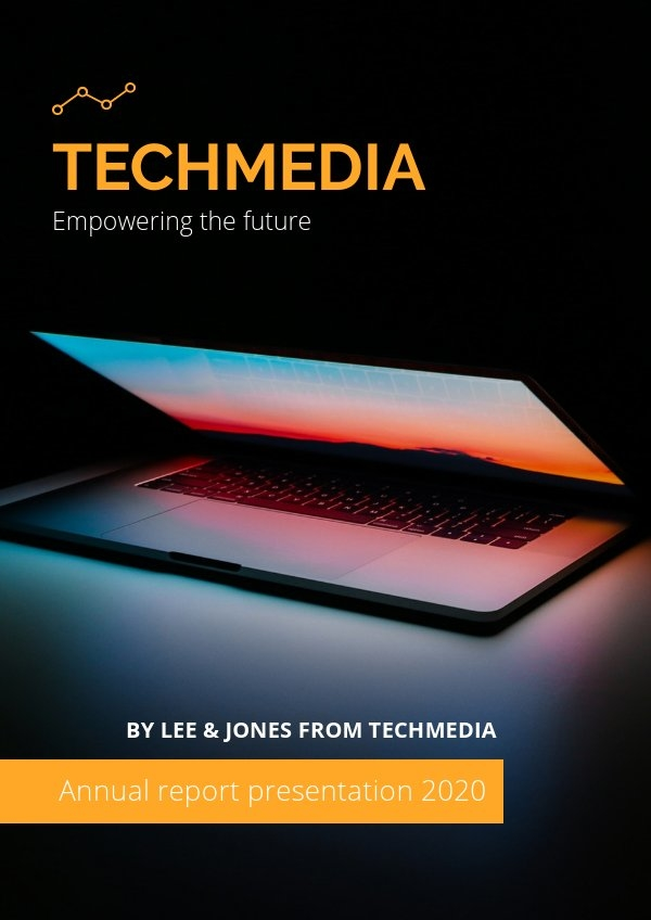Diseño de plantilla para portada de presentación del Informe anual