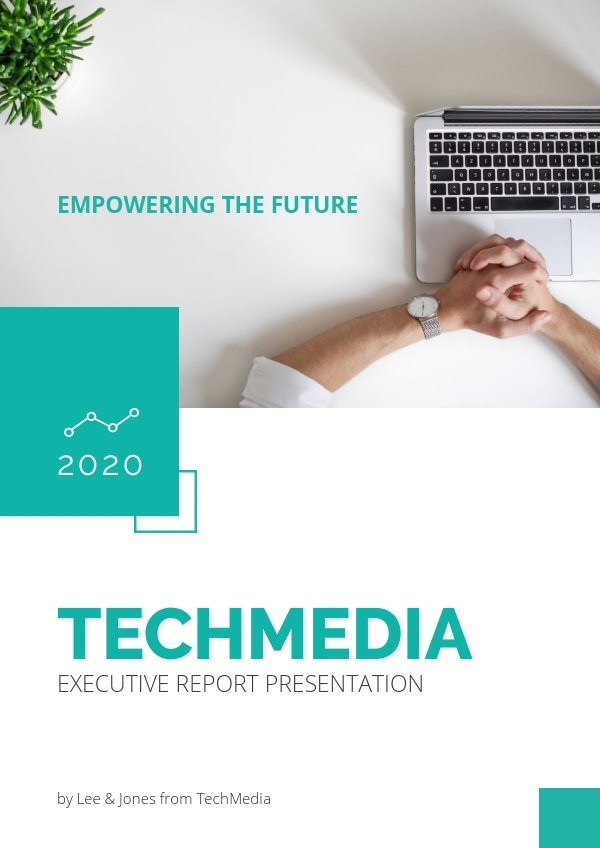 Executive Report Presentation Cover Example
