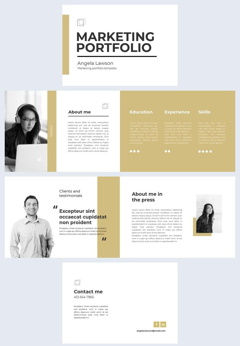 Design de portfolio marketing personnalisable
