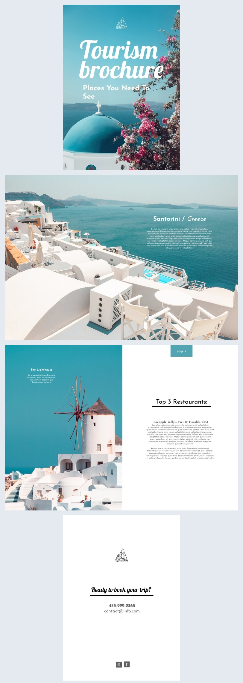 Blue Sea Tourism Brochure Example