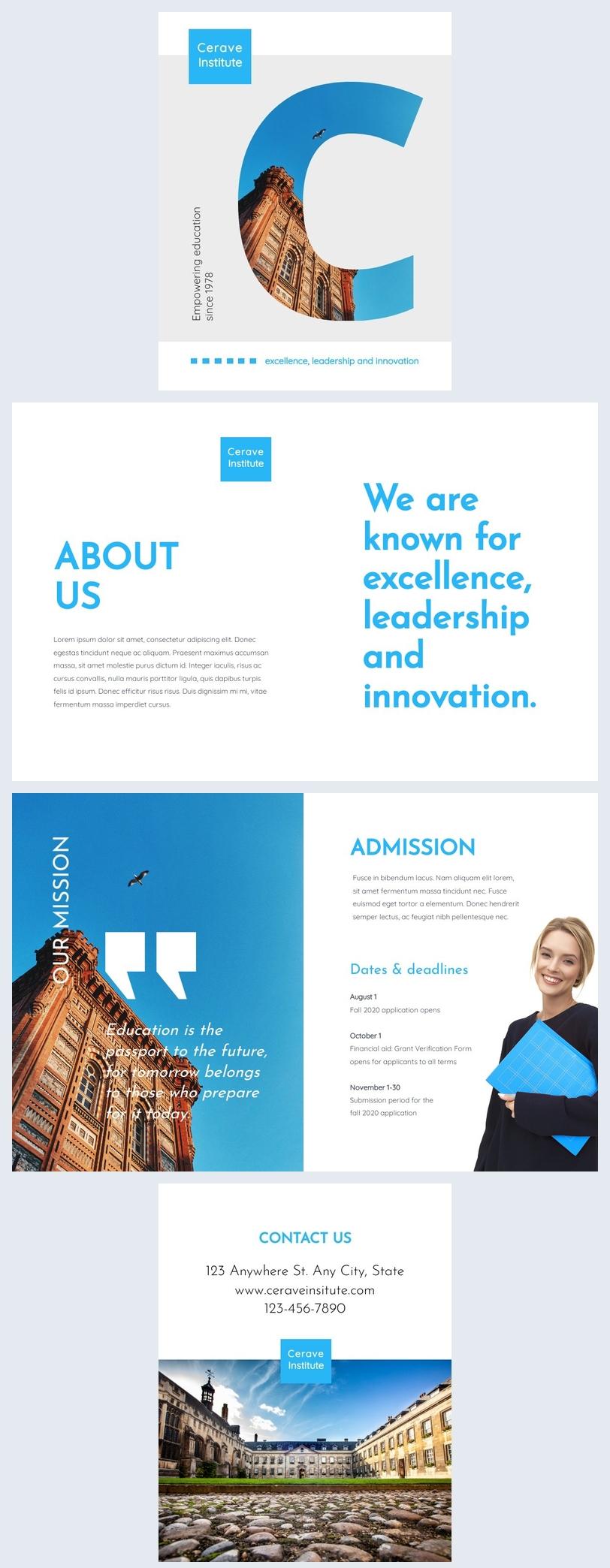 Exemple de brochure éducative personnalisable