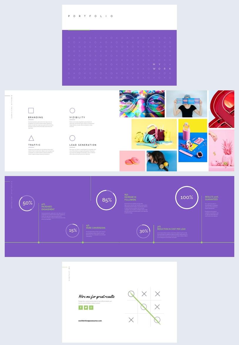 Modèle et design de portfolio professionnel créatif