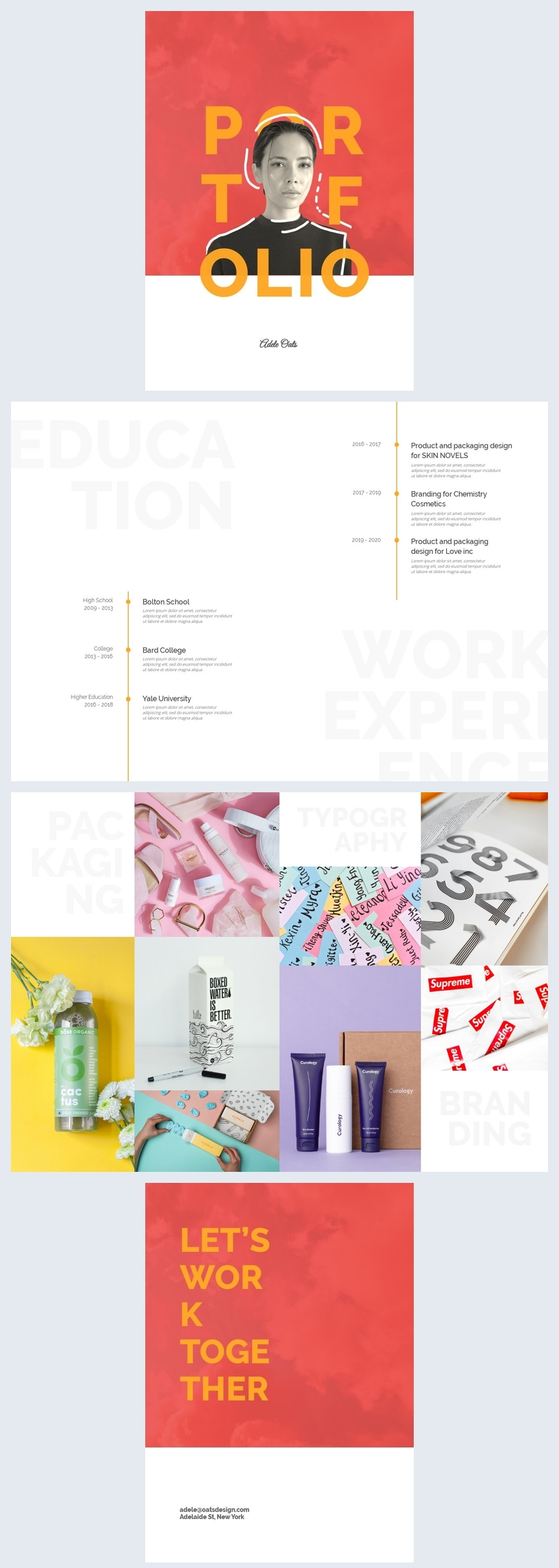 Minimal Work Portfolio Layout