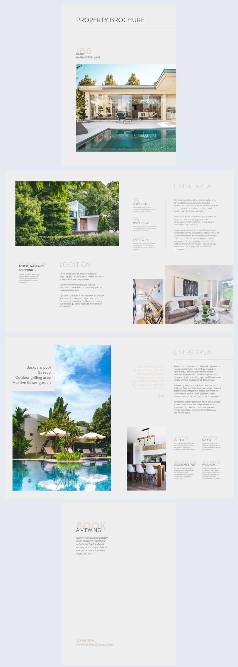 Exemplo de Brochura de Imóveis Personalizável
