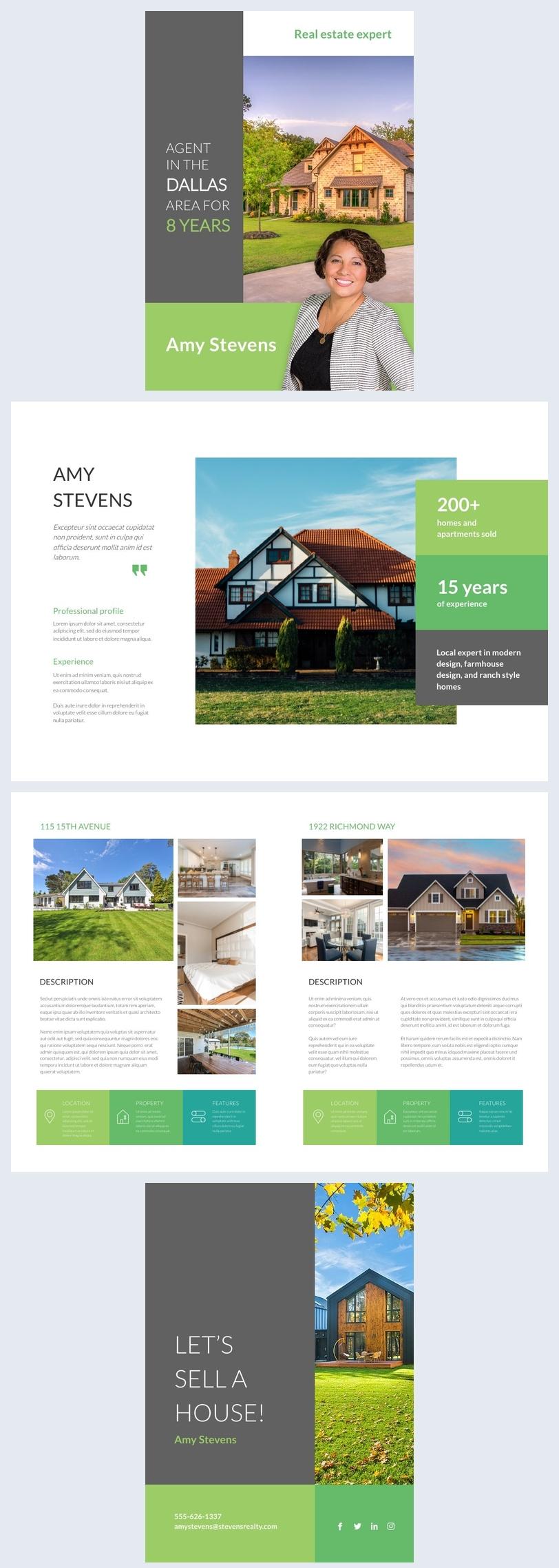 Design-Beispiel einer Immobilienmakler-Broschüre