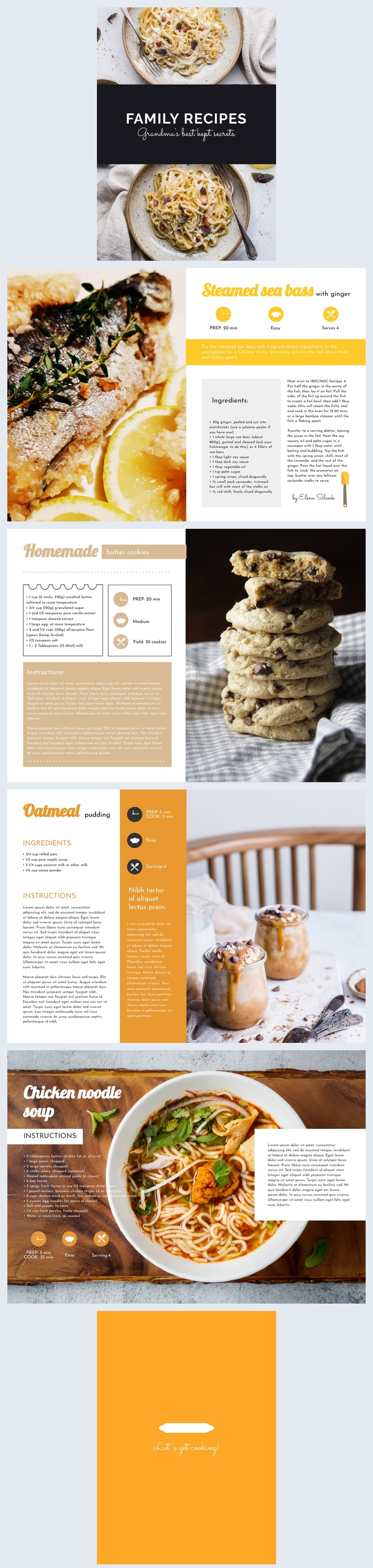 Customizable Diy Cookbook Example