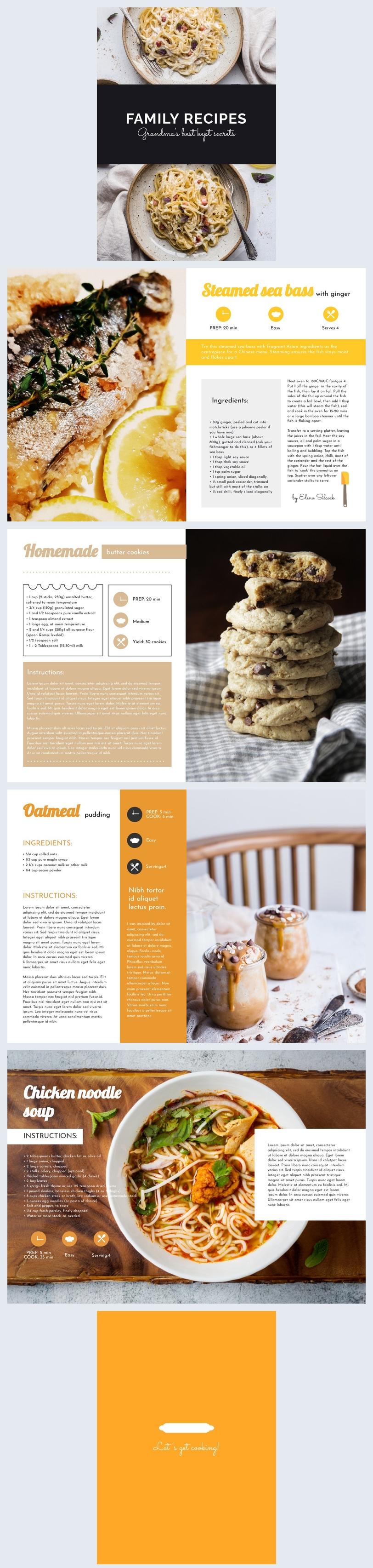 Beispiel für ein Editierbares DIY-Kochbuch