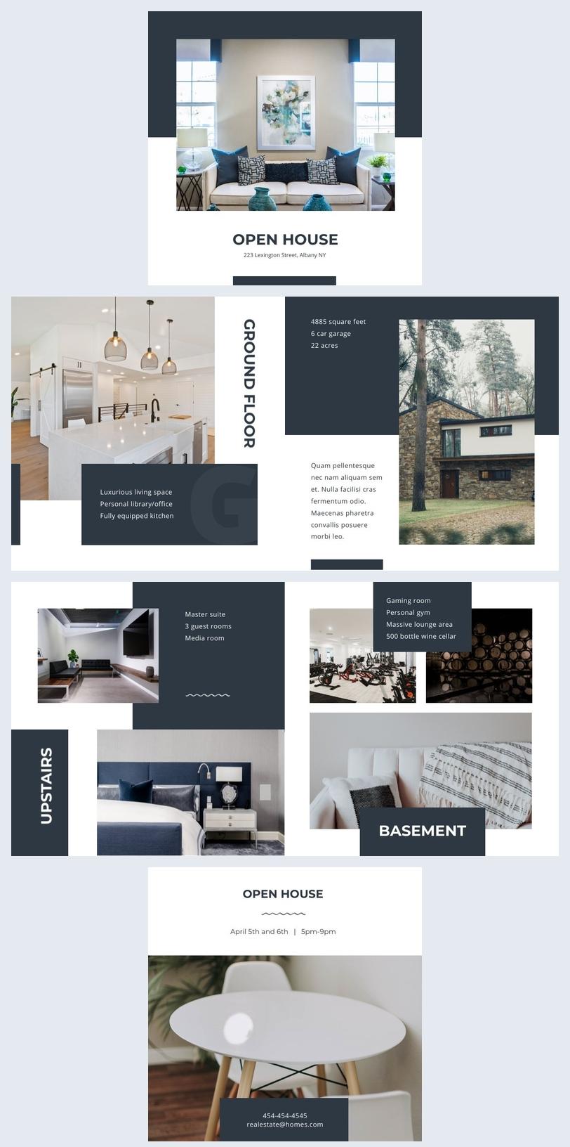 Modern Open House Brochure Example