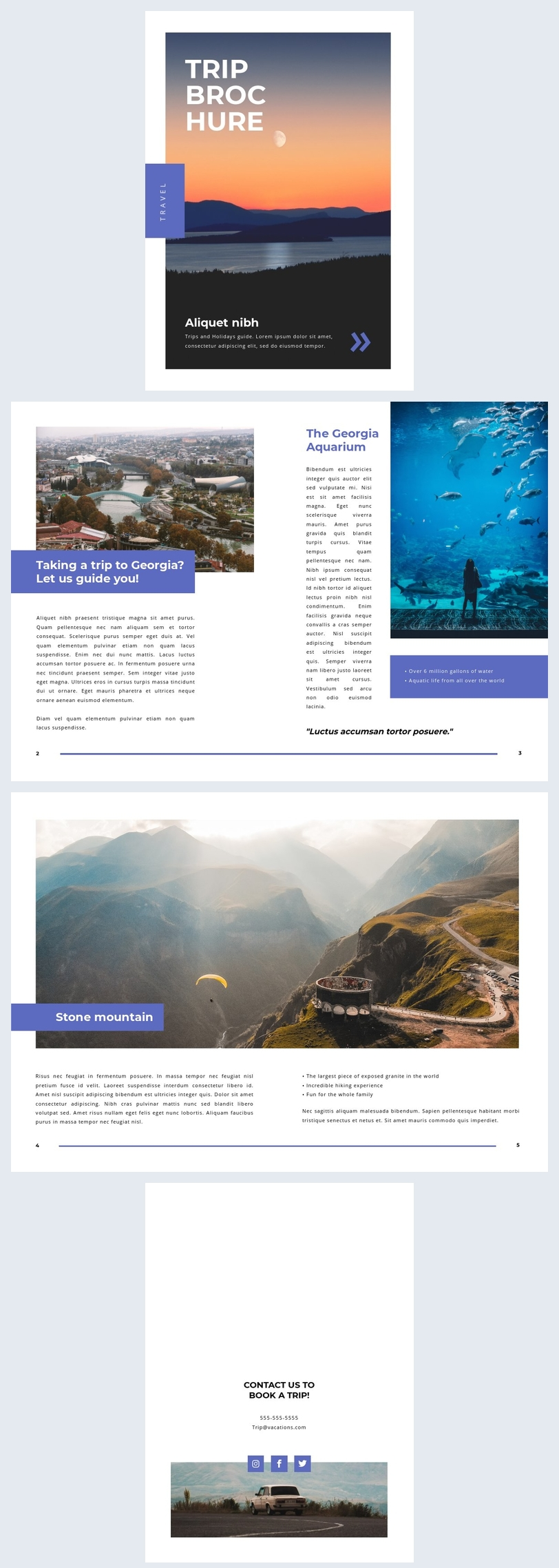 Customizable Trip Brochure Layout Example