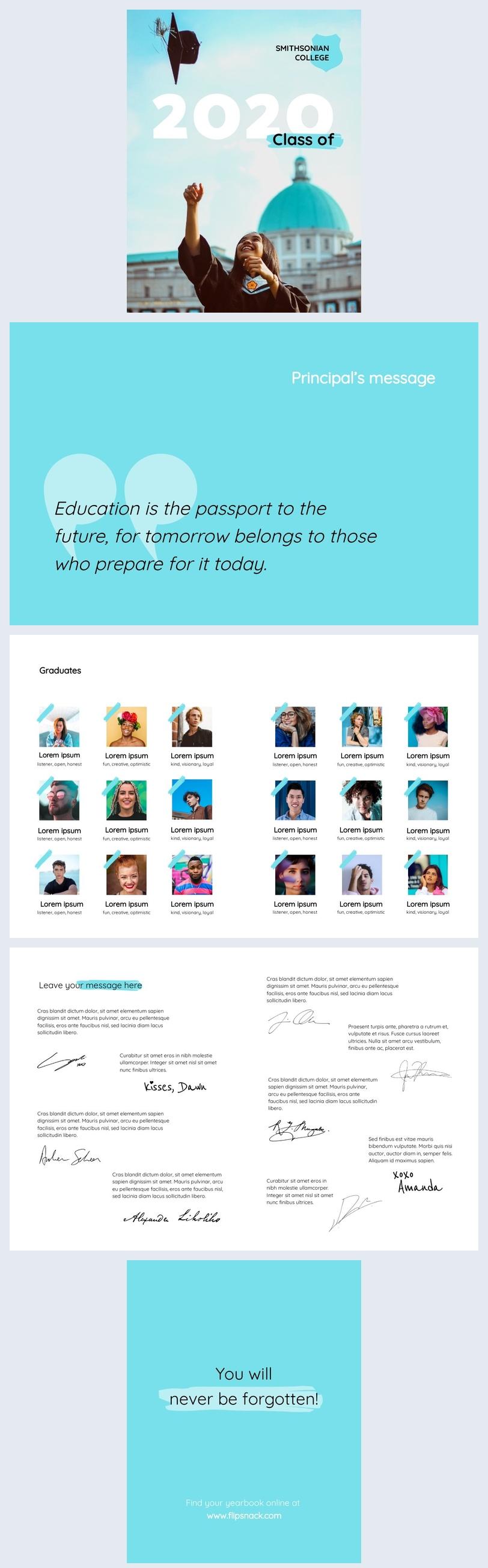 Exemple et design d'album de promotion universitaire