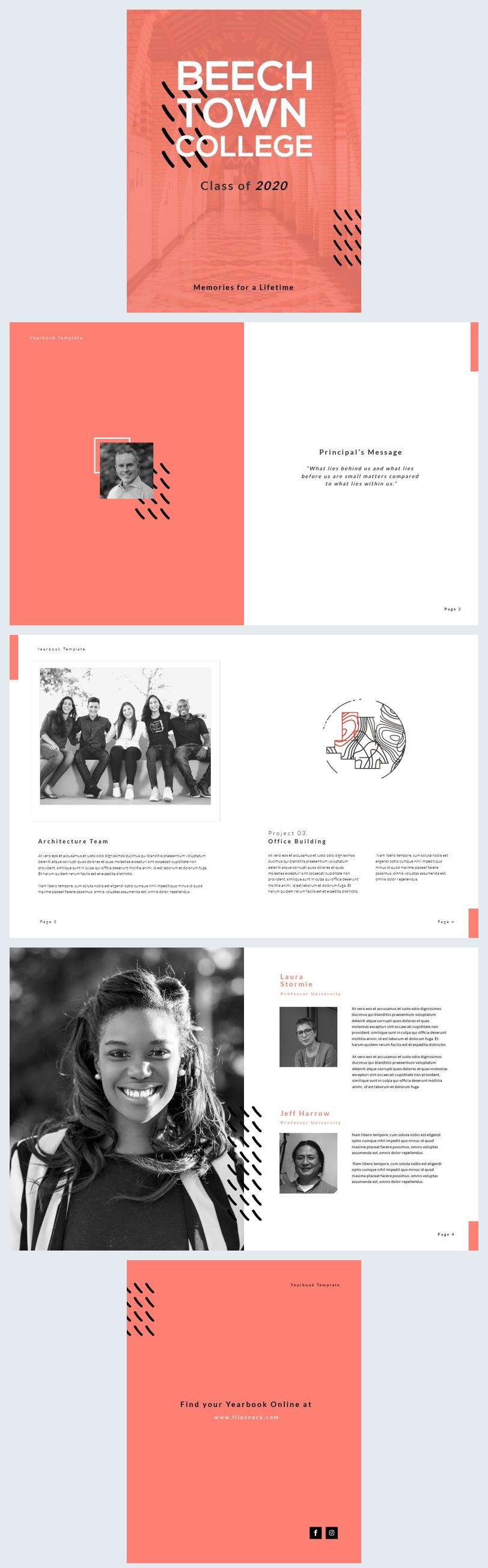 Design de mise en page d'album de promotion