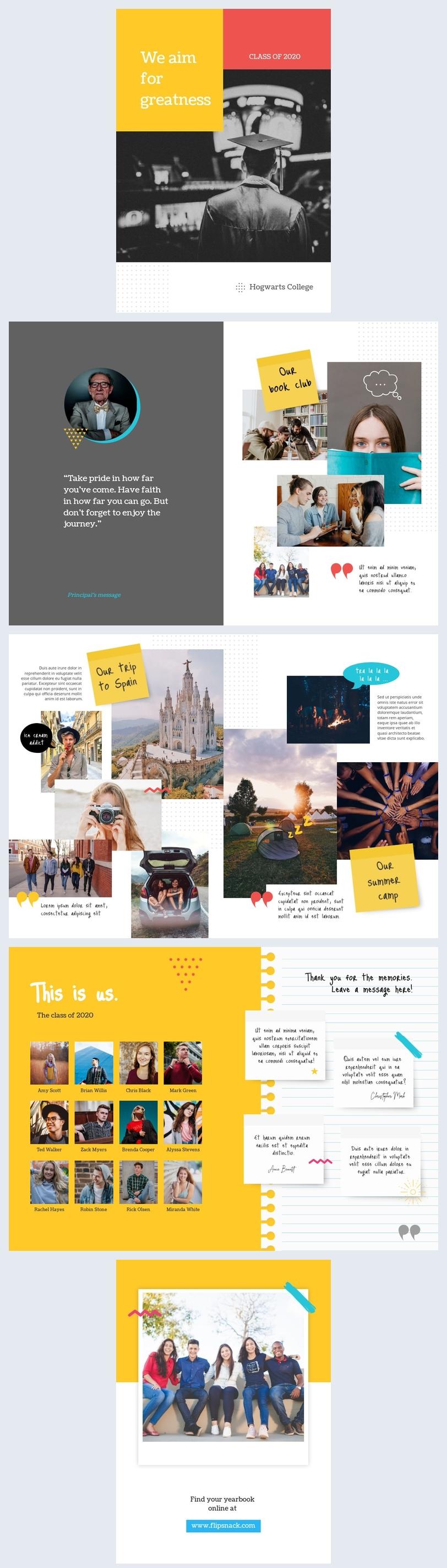 Senior Yearbook Design Template