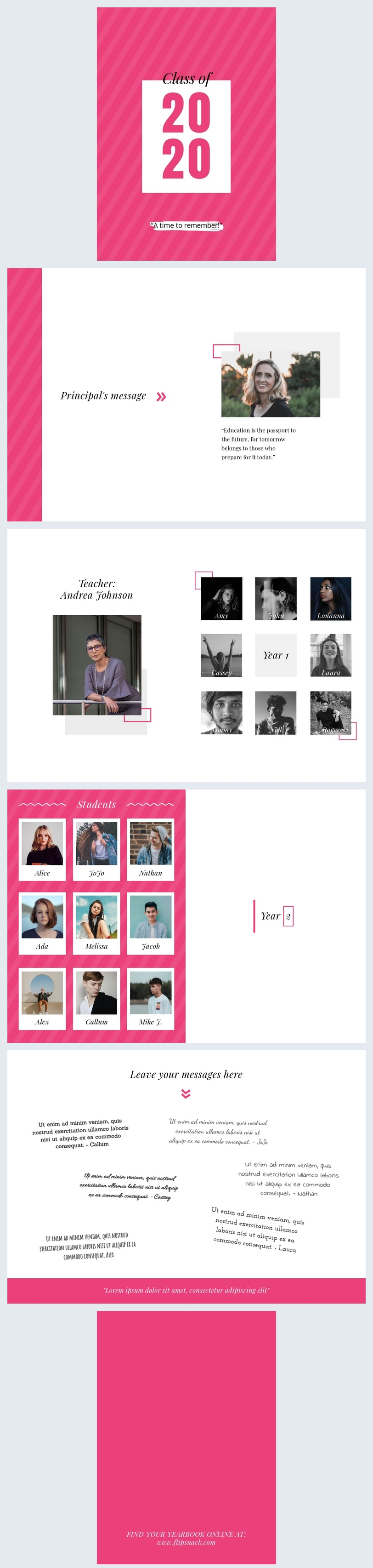 Customizable Yearbook Design Layout