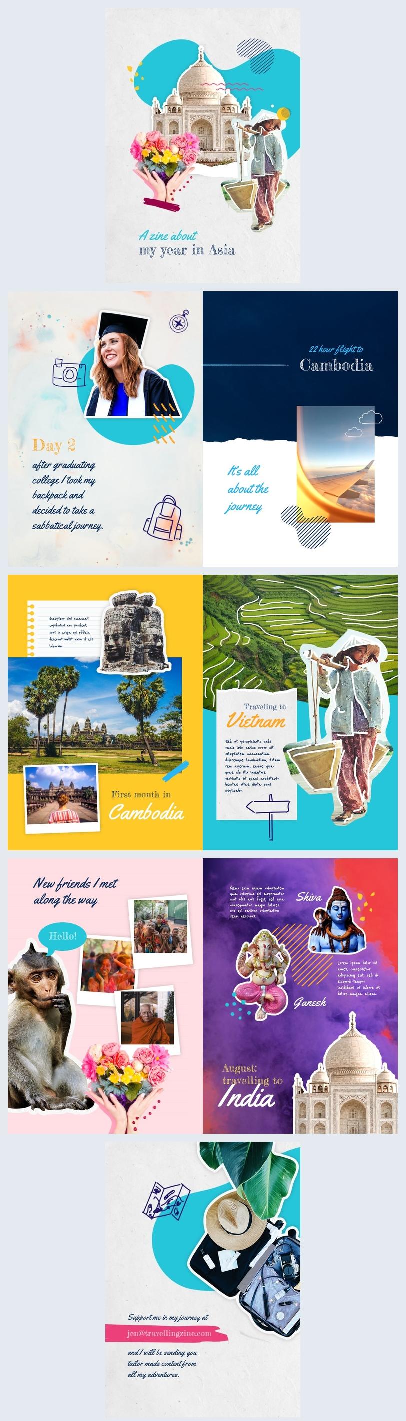Exemple et design de magazine de voyage