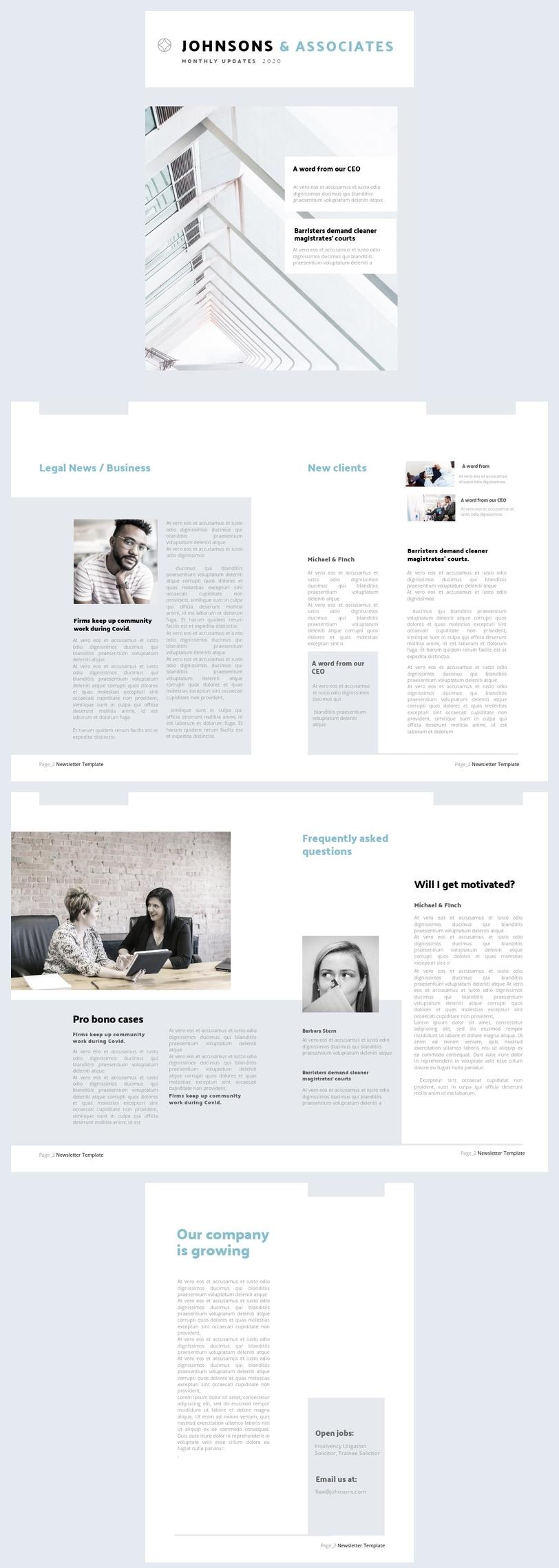 Esempio di modello per newsletter aziendale