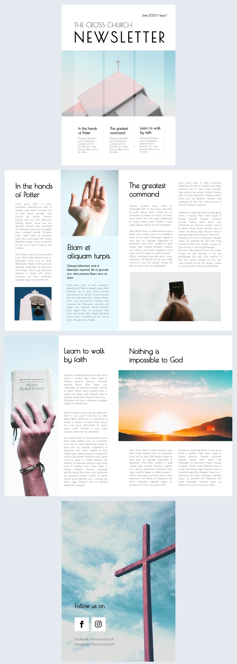 Church Newsletter Design Template Example
