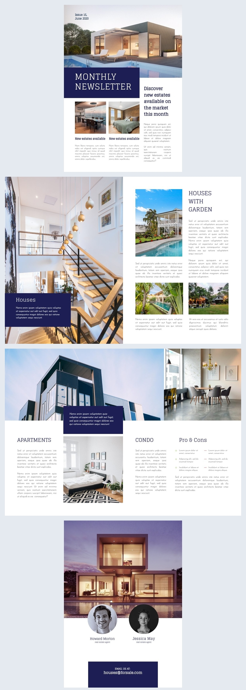 Real Estate Newsletter Design Idea