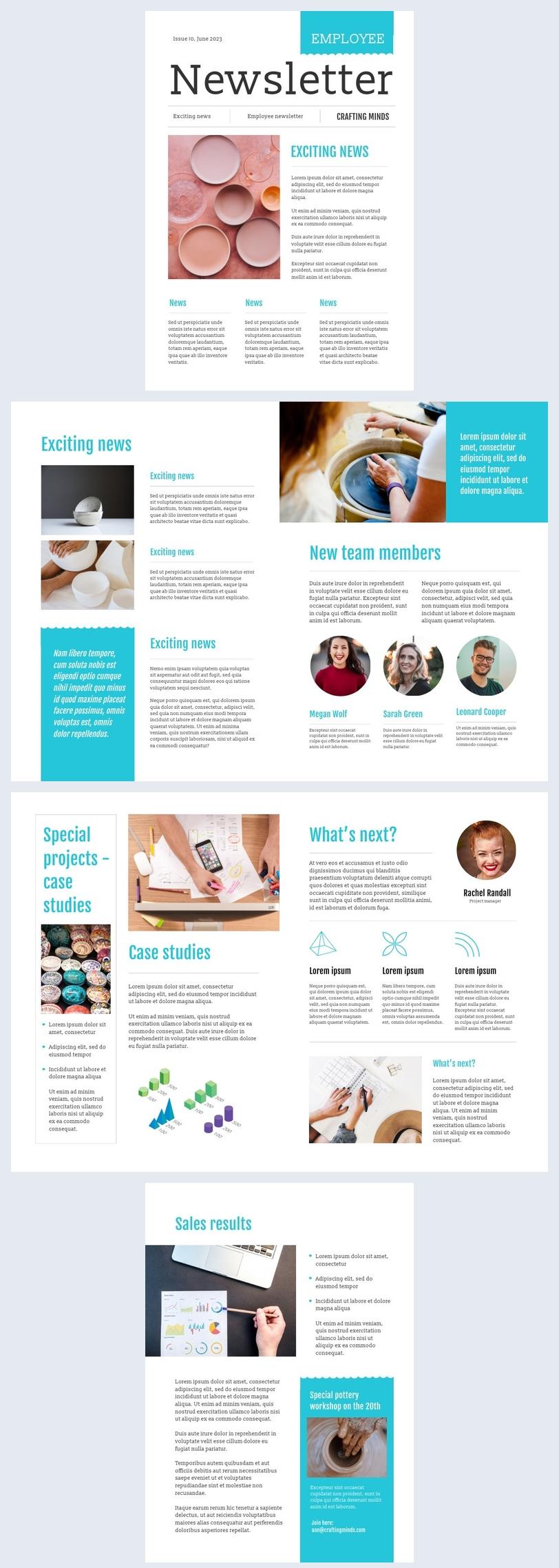 Editable Employee Newsletter Example