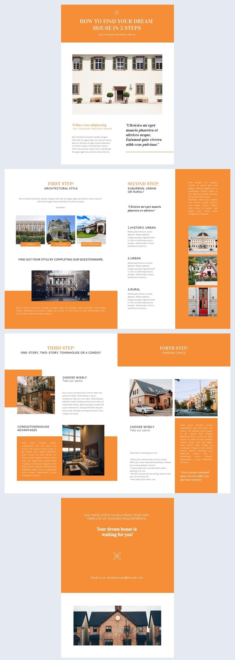 Exemple de modèle de newsletter immobilière