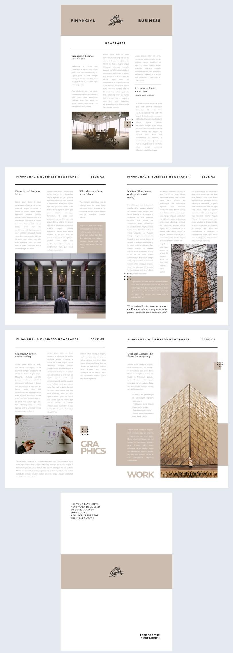 Exemplo de Design de Jornal para Impressão