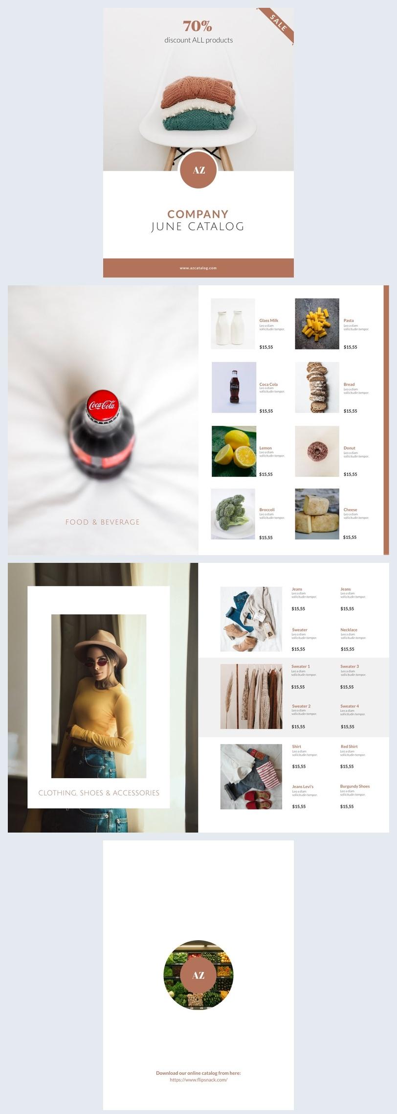 Exemple de catalogue d'entreprise personnalisable