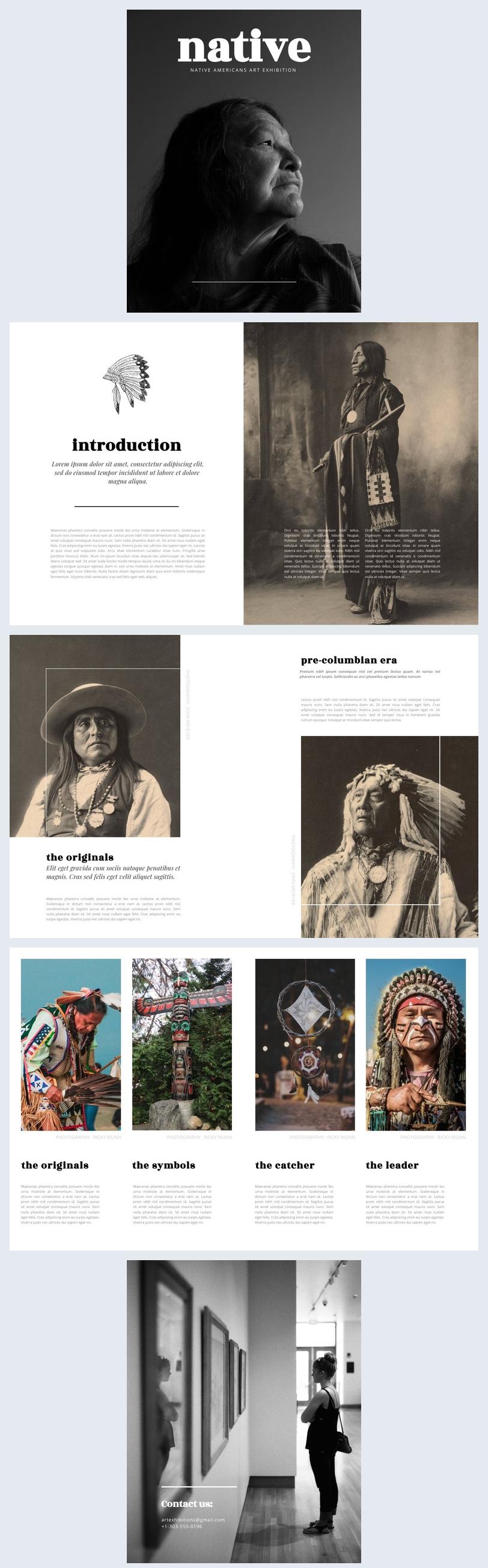 Idea de diseño para catálogo de exhibición de arte