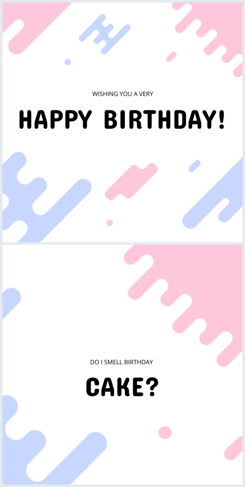Esempio di grafica per biglietto di compleanno online