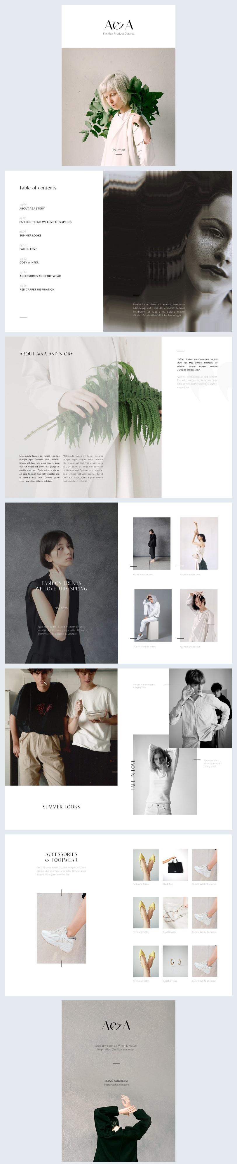 Esempio per catalogo prodotti di moda