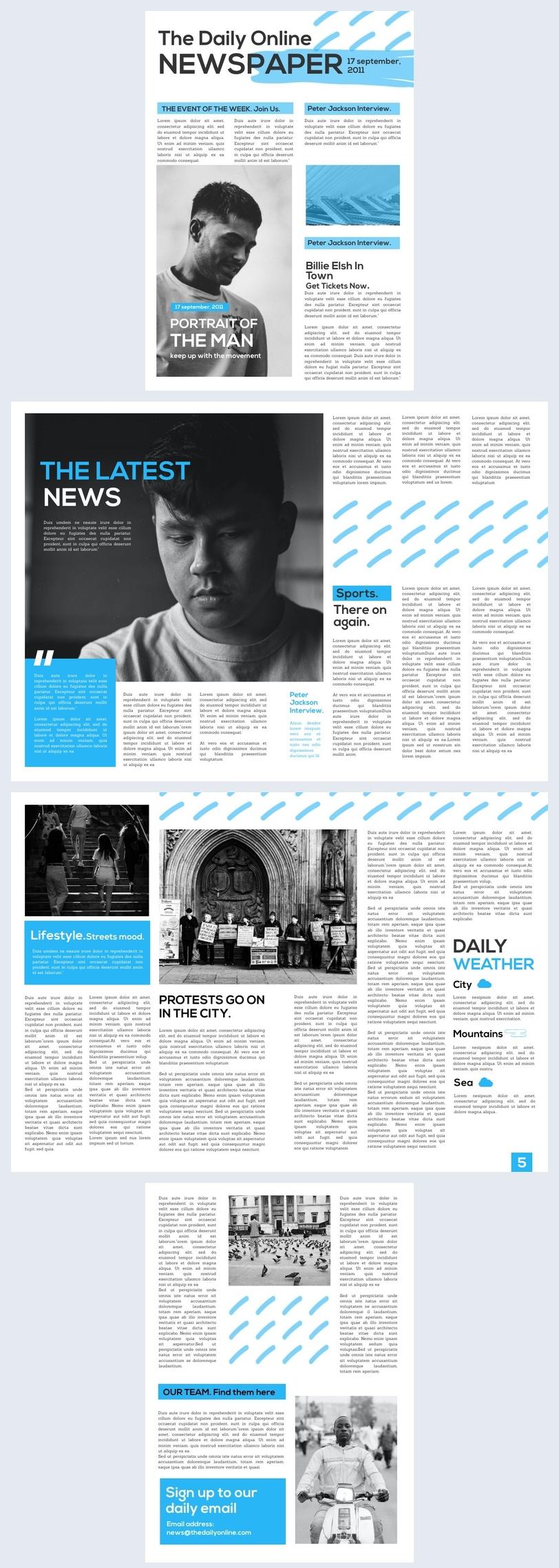 Exemplo de Design de Jornal Online