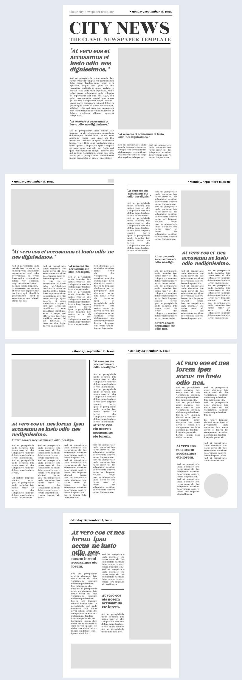 Blanko Zeitungsvorlage-Design