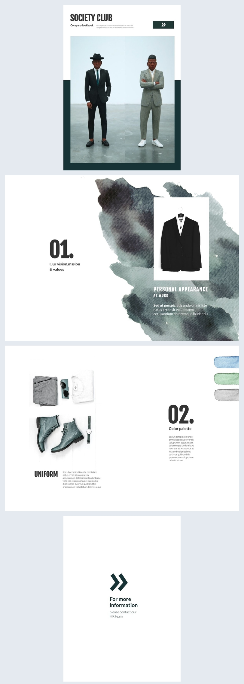 Firmen-Lookbook Design-Idee