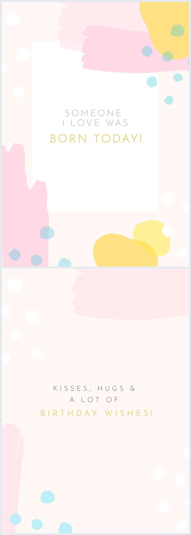 Beispiel einer Geburtstagskarte