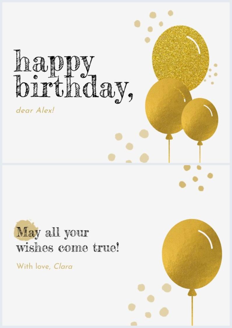 Birthday Card Design Example