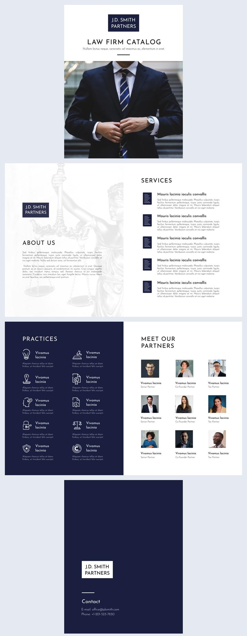 Exemplo de Design de Catálogo de Negócios