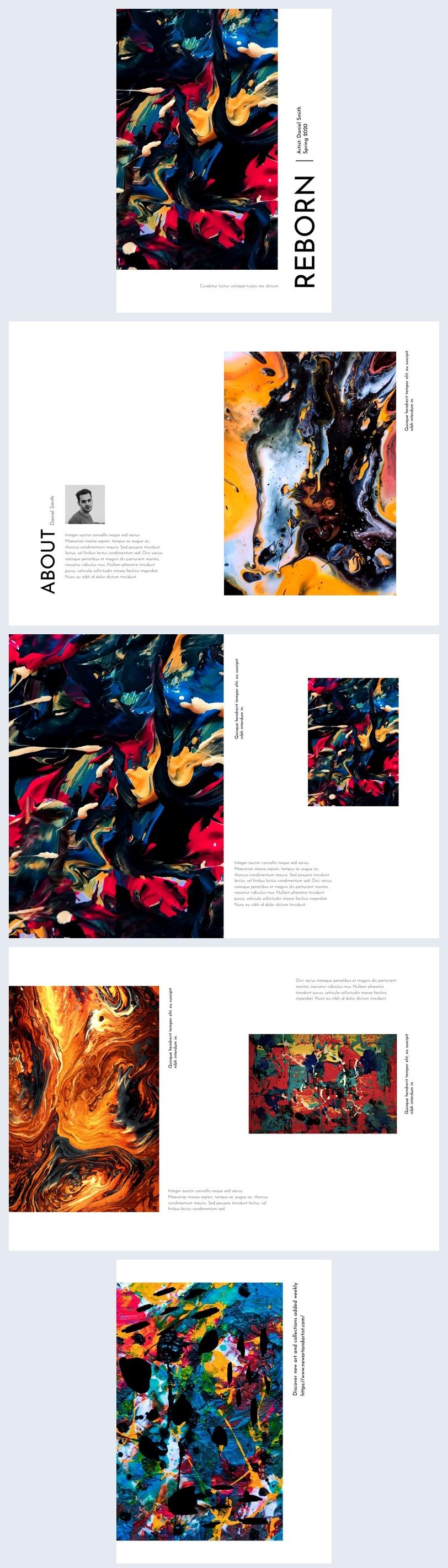 Idea de diseño para catálogo de arte