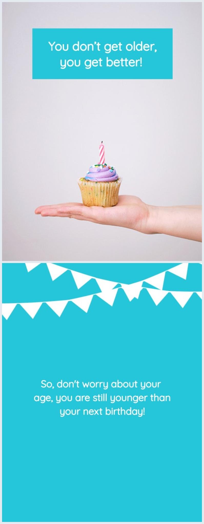Exemplo de Design de Cartão de Aniversário Personalizado