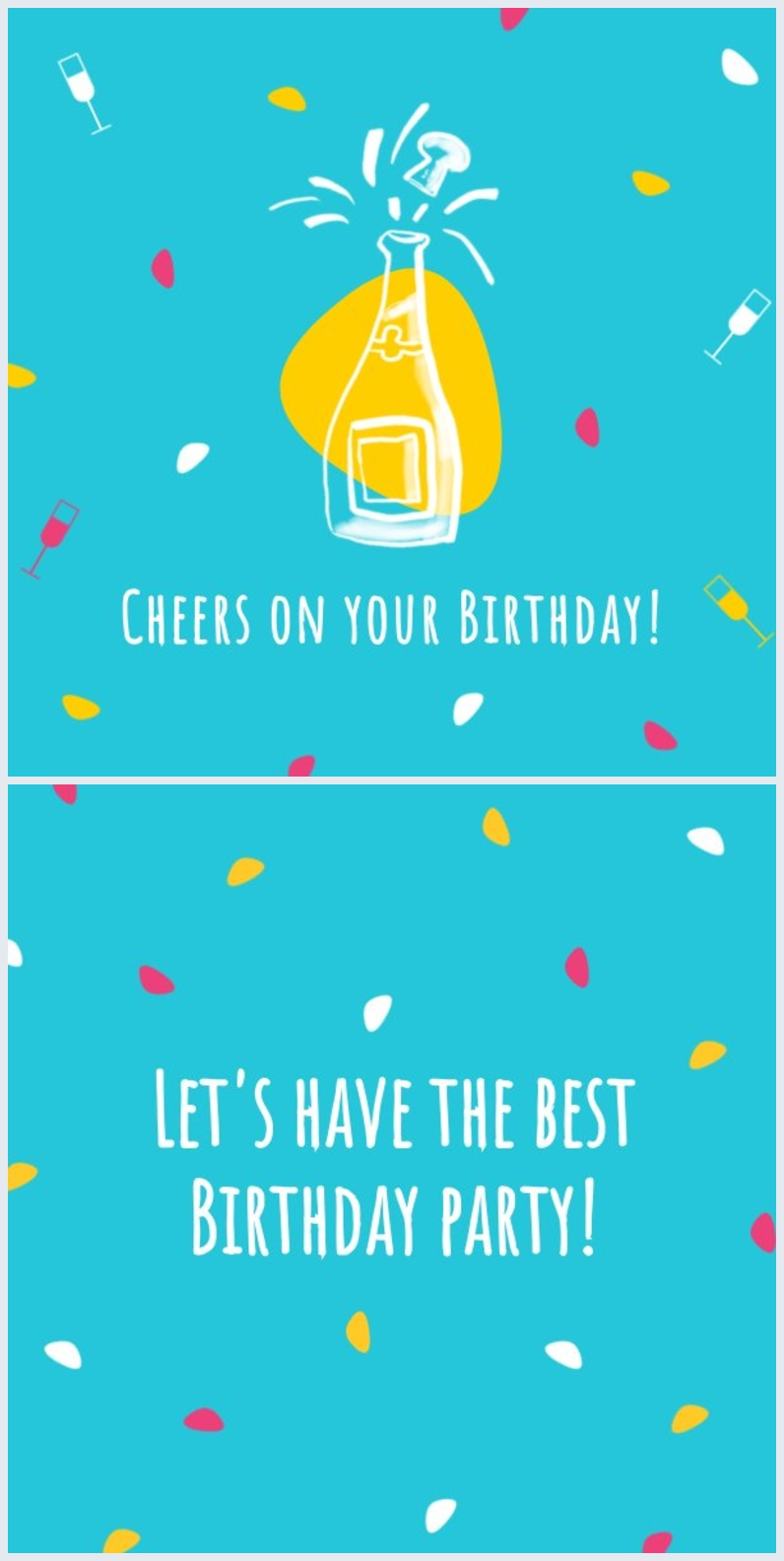 Exemple de modèle de carte d'anniversaire
