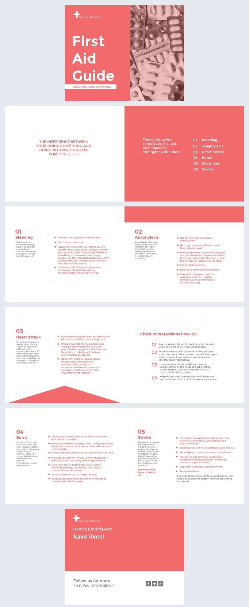 Exemple de design de guide de premiers soins