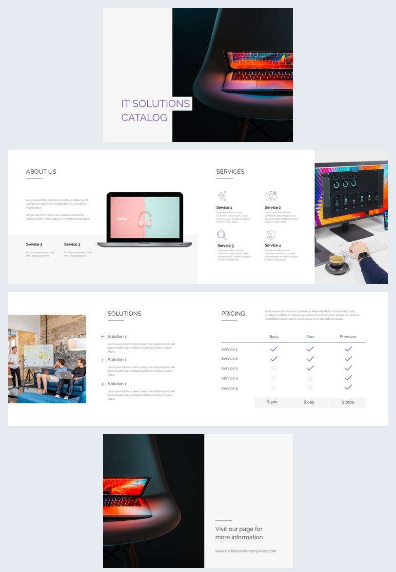 Ejemplo de catálogo de servicios tecnológicos