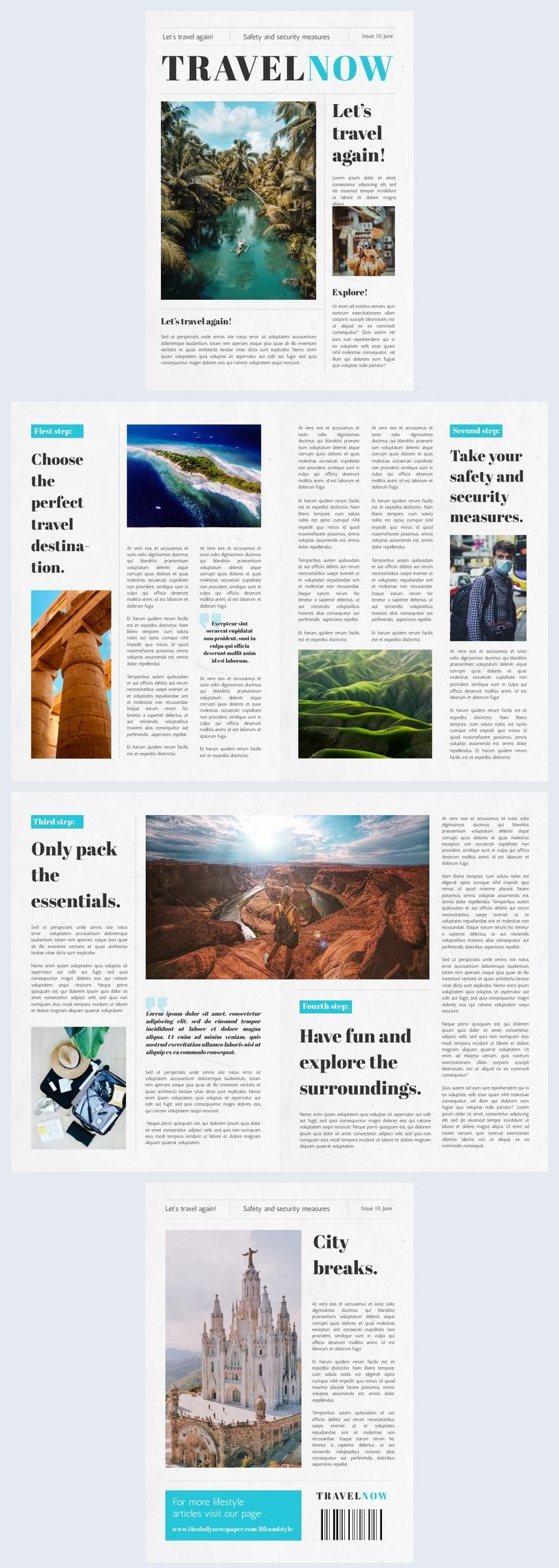 Exemple et design de modèle d'article de journal