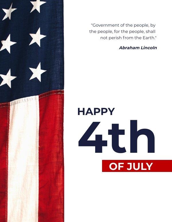 Patriotisches Vierter Juli Design