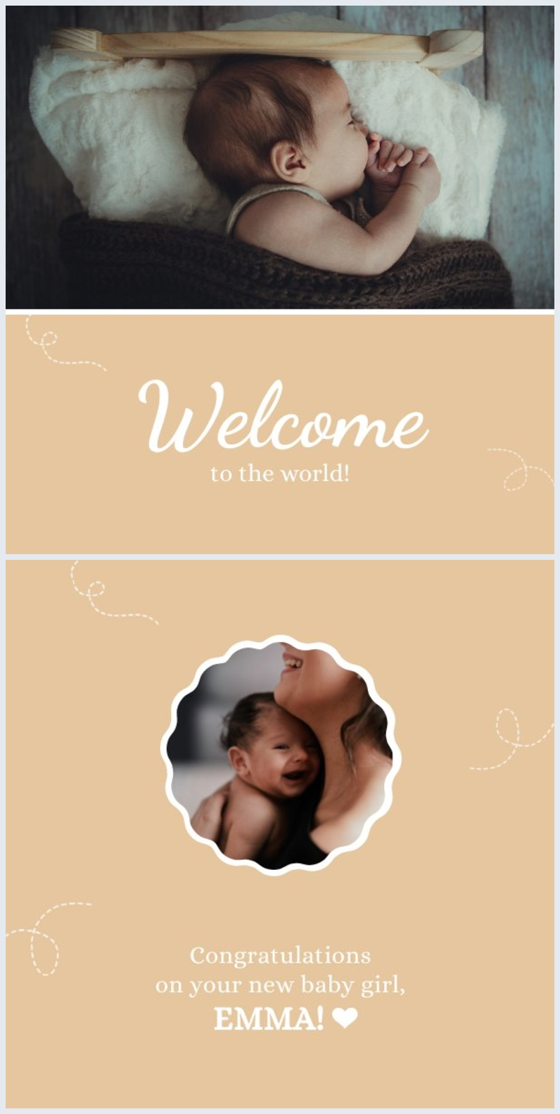 Newborn Greeting Card Design