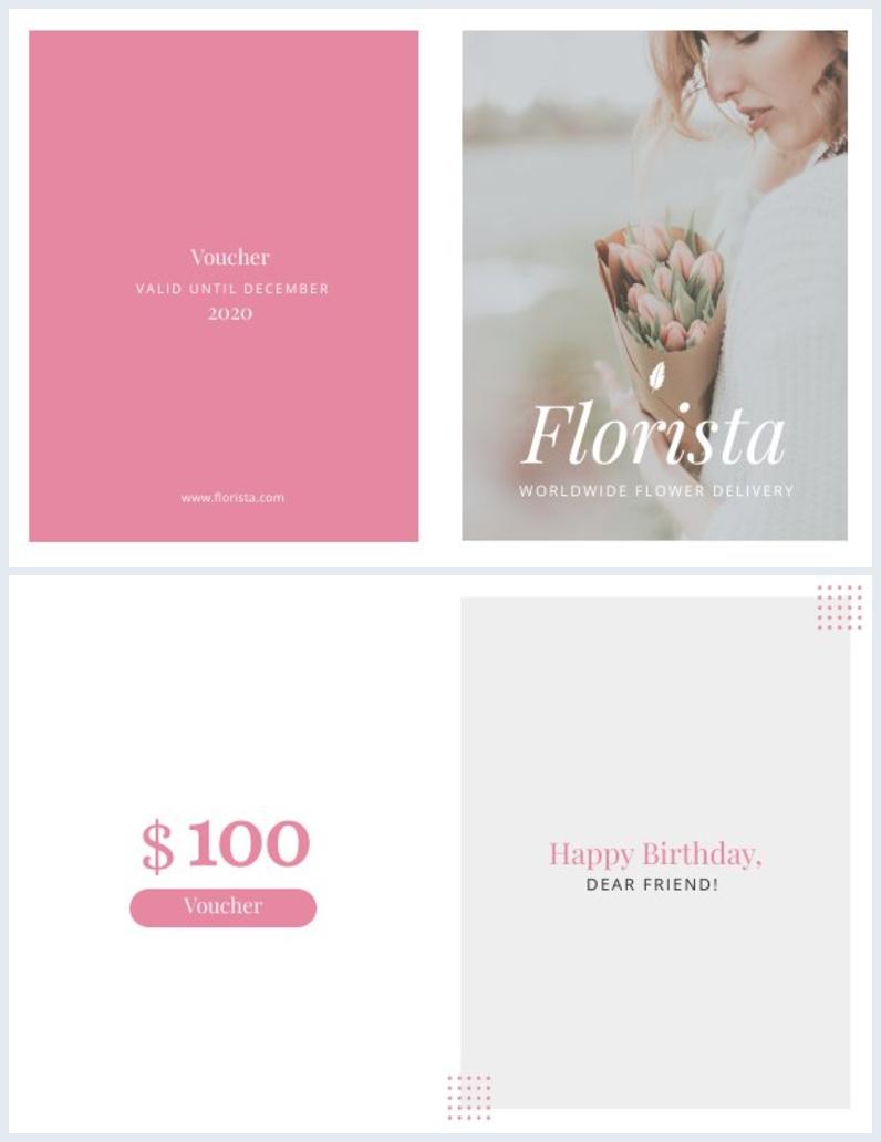 Gefaltetes Druckbares Geschenkkarten-Design