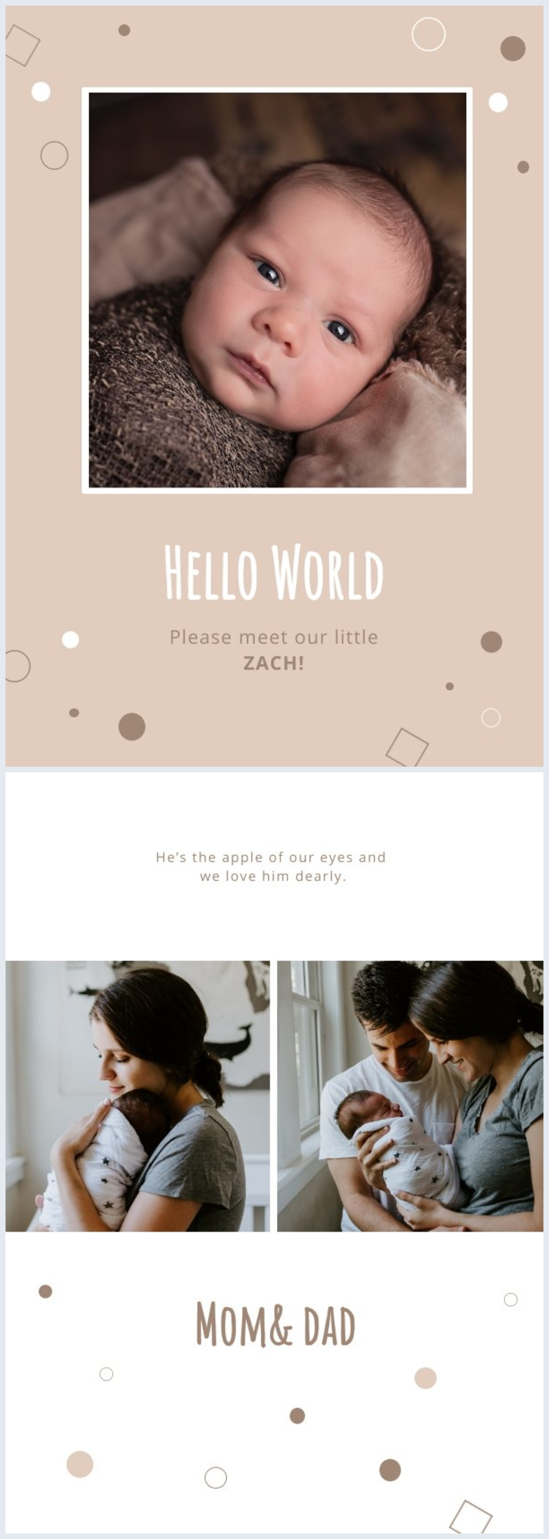 Greeting Card Baby Announcement Design