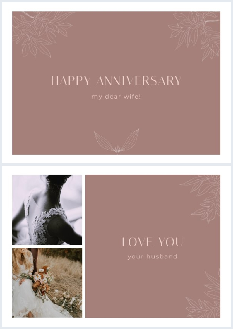 Wedding Anniversary Card Design For Wife