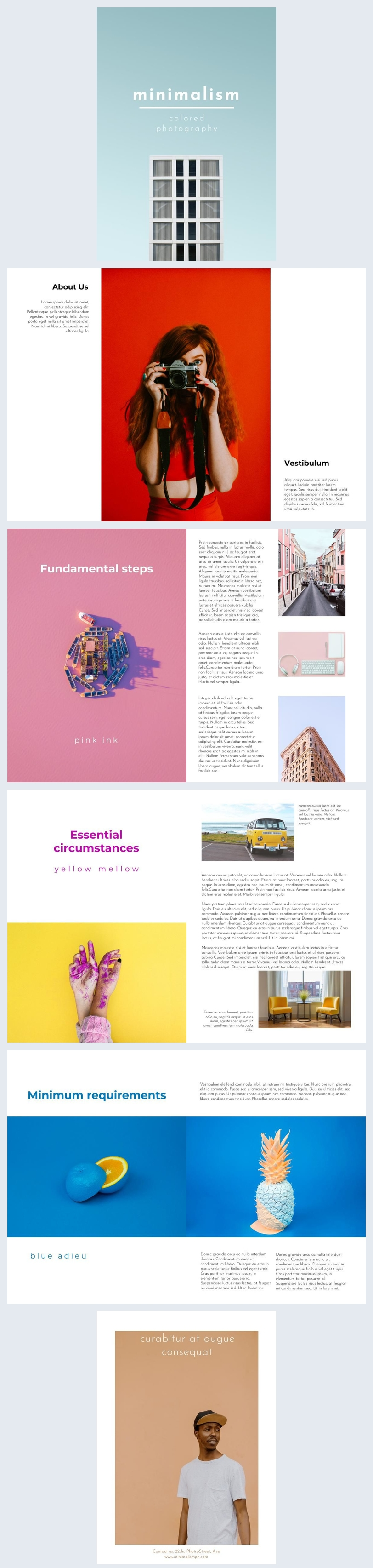 Minimalist Photography Magazine Design