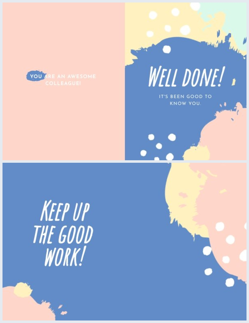 cute well done card design colorful